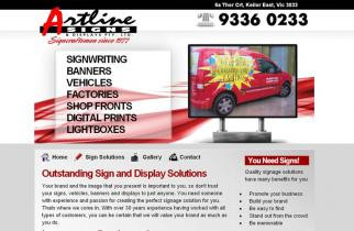 Artline Signage by TeePlates Web Design Melbourne