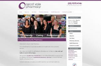 Ascot Vale Pharmacy by TeePlates Web Design Melbourne