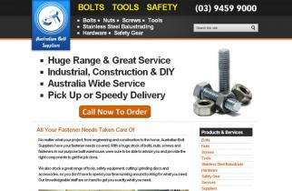 Australian Bolt Suppliers by TeePlates Web Design Melbourne