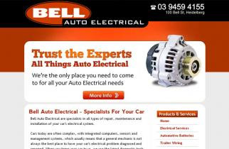 Bell Auto Electrical by TeePlates Web Design Melbourne