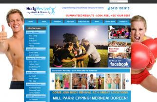 Body Revival Fitness by TeePlates Web Design Melbourne