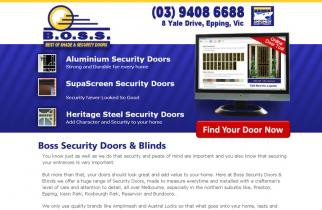 Boss Security Doors and Blinds by TeePlates Web Design Melbourne
