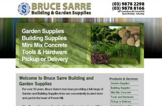 Bruce Sarre Garden Supplies by TeePlates Web Design Melbourne