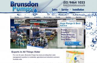 Brunsdon Pumps by TeePlates Web Design Melbourne