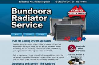 Bundoora Radiators by TeePlates Web Design Melbourne