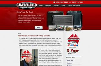 Campbellfield Radiators by TeePlates Web Design Melbourne