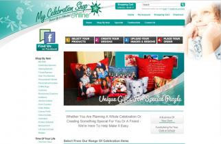 My Celebration Shop by TeePlates Web Design Melbourne