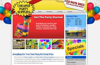 Cheaper Party Supplies by TeePlates Web Design Melbourne