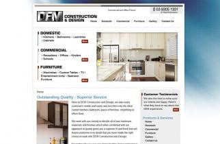 DEM Construction & Design by TeePlates Web Design Melbourne