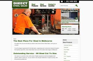 Direct Steel Sales by TeePlates Web Design Melbourne