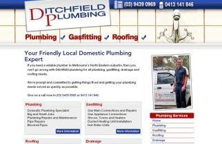 Ditchfield Plumbing by TeePlates Web Design Melbourne