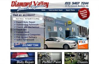Diamond Valley Smash Repairs by TeePlates Web Design Melbourne