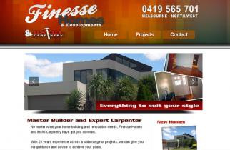 Finesse Homes by TeePlates Web Design Melbourne