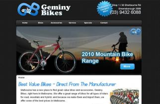 Geminy Bikes by TeePlates Web Design Melbourne