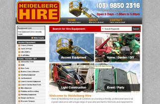 Heidelberg Hire by TeePlates Web Design Melbourne