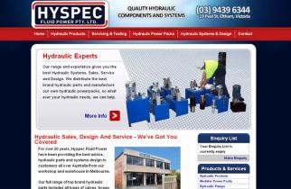 Hyspec Fluid Power by TeePlates Web Design Melbourne