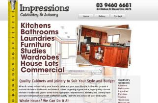 Impressions Cabinetry by TeePlates Web Design Melbourne