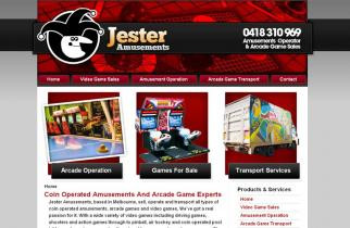 Jester Amusements by TeePlates Web Design Melbourne