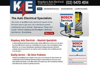 Kingsbury Auto Electrical by TeePlates Web Design Melbourne
