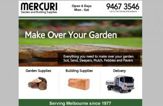 Mercuri Garden Supplies by TeePlates Web Design Melbourne