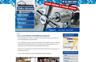 Middletons Builders Warehouse by TeePlates Web Design Melbourne
