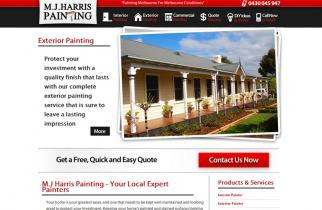 M.J. Harris Painting by TeePlates Web Design Melbourne