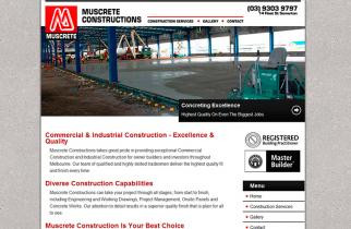 Muscrete Constructions by TeePlates Web Design Melbourne