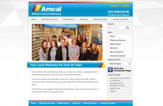 Nelson's Amcal Pharmacy by TeePlates Web Design Melbourne