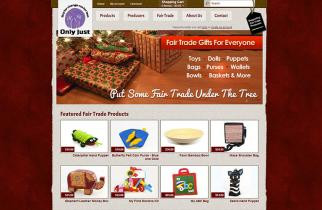 Only Just Fair Trade by TeePlates Web Design Melbourne