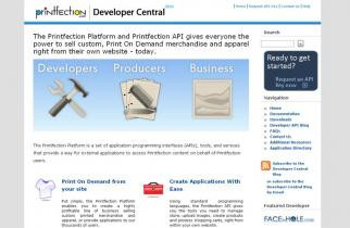 Printfection Developer Central by TeePlates Web Design Melbourne