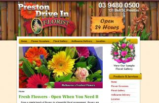 Preston Drive In Flowers by TeePlates Web Design Melbourne
