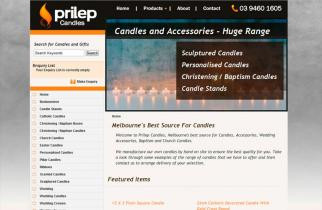 Prilep Candles by TeePlates Web Design Melbourne