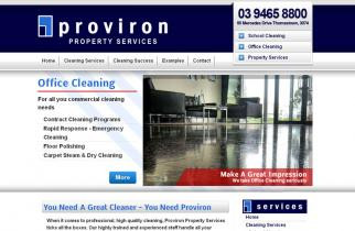 Proviron Property Services by TeePlates Web Design Melbourne