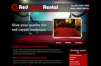 Red Carpet Rentals by TeePlates Web Design Melbourne