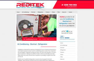 Reditek Electrical by TeePlates Web Design Melbourne
