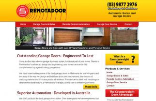 Remotadoor by TeePlates Web Design Melbourne