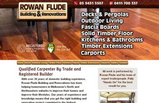 Rowan Flude Renovations by TeePlates Web Design Melbourne