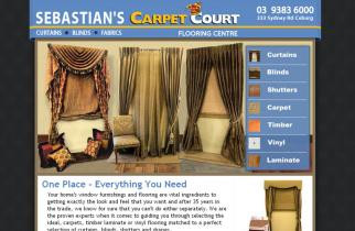 Sebastian's Carpet Court by TeePlates Web Design Melbourne