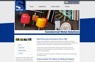 Spamco Metal Solutions by TeePlates Web Design Melbourne