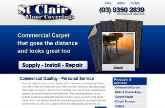 St Clair Flooring by TeePlates Web Design Melbourne