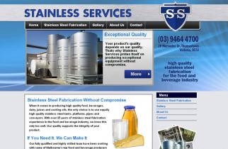 Stainless Services by TeePlates Web Design Melbourne