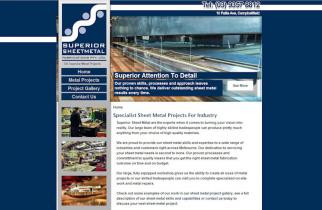 Superior Sheet Metal by TeePlates Web Design Melbourne