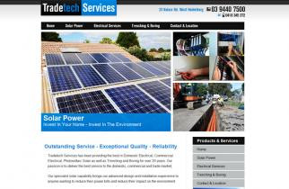 Tradetech Services by TeePlates Web Design Melbourne