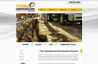 Total Underground Solutions by TeePlates Web Design Melbourne