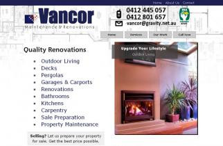 Vancor Maintenance and Renovations by TeePlates Web Design Melbourne
