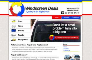 Windscreen Deals by TeePlates Web Design Melbourne