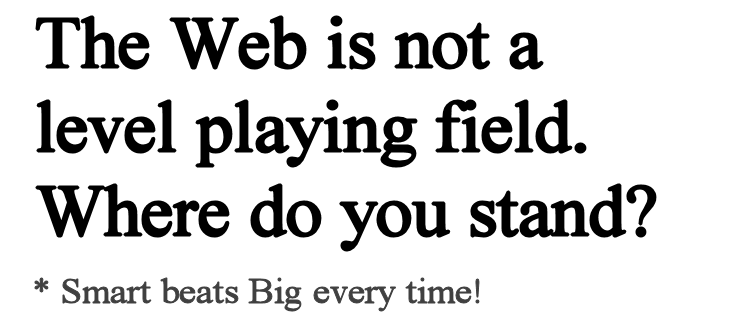 The web is not a level playing field